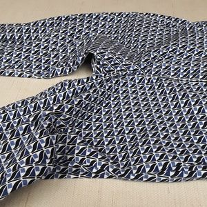 J.Crew blue black print pants trousers Sz 4